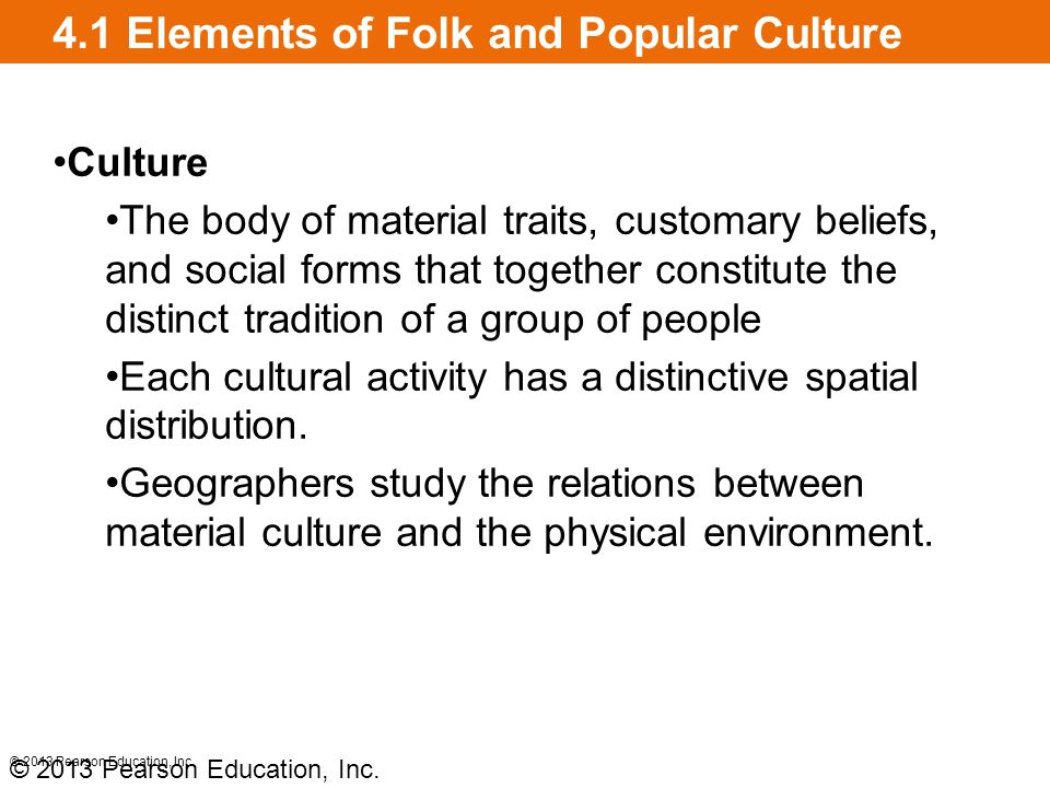 4.1 Elements of Folk and Popular Culture