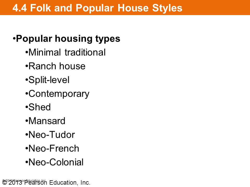 4.4 Folk and Popular House Styles