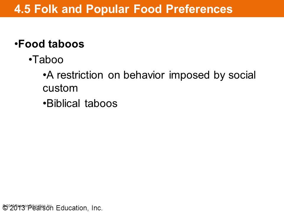 4.5 Folk and Popular Food Preferences