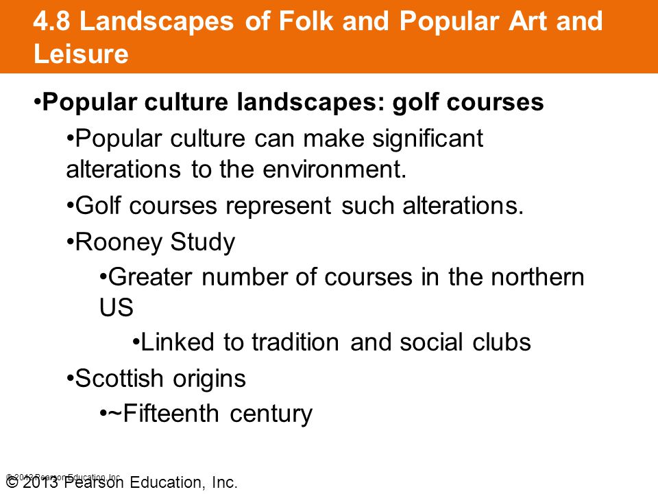 4.8 Landscapes of Folk and Popular Art and Leisure