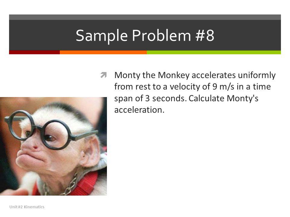 Sample Problem #8