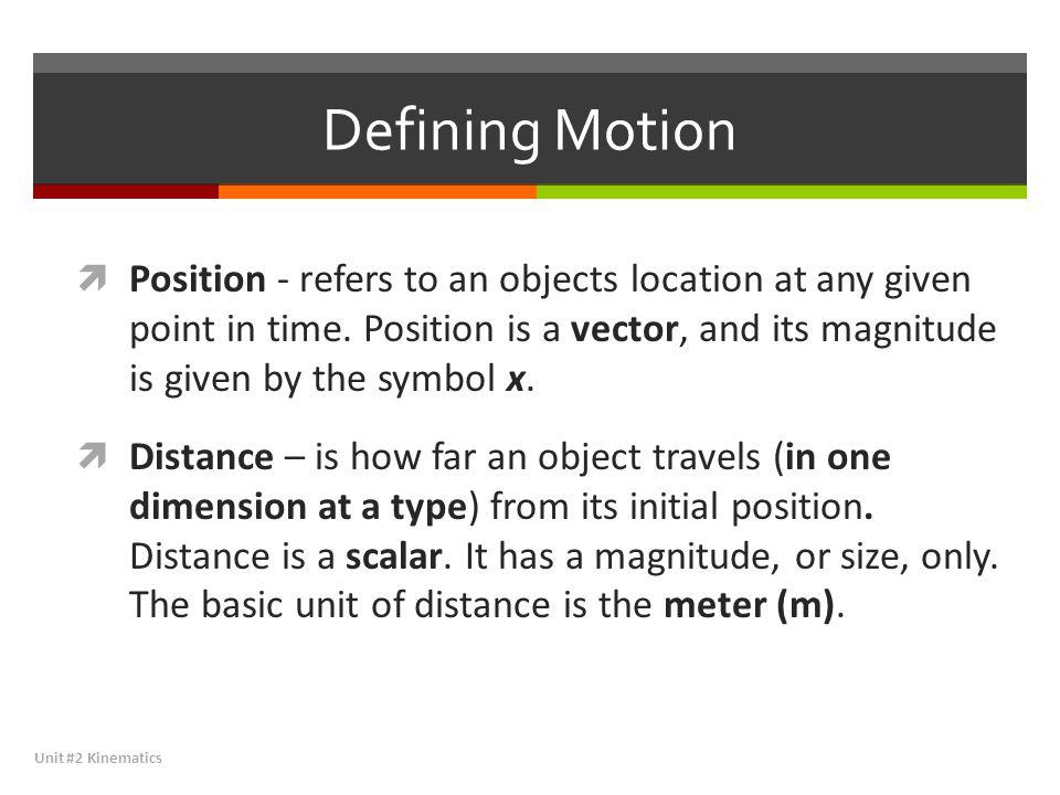 Defining Motion