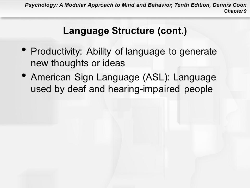 Language Structure (cont.)