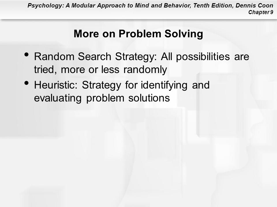 More on Problem Solving