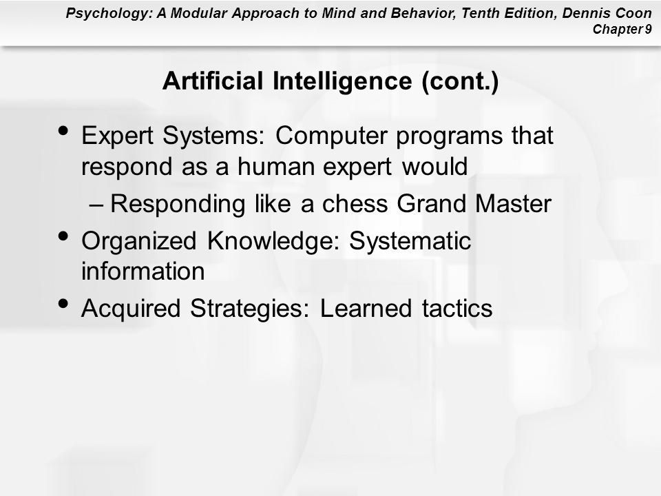 Artificial Intelligence (cont.)