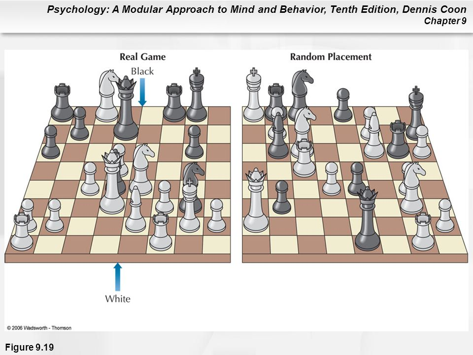 Figure 9. 19 The left chessboard shows a realistic game