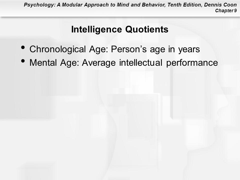 Intelligence Quotients