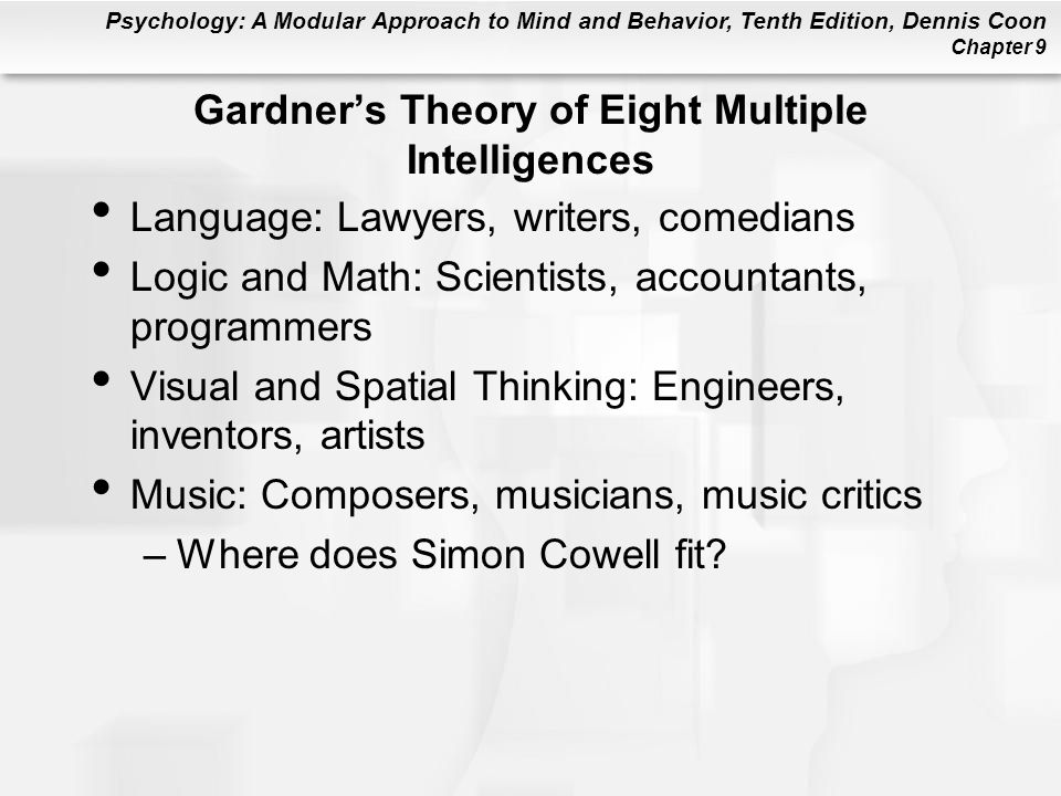 Gardner's Theory of Eight Multiple Intelligences