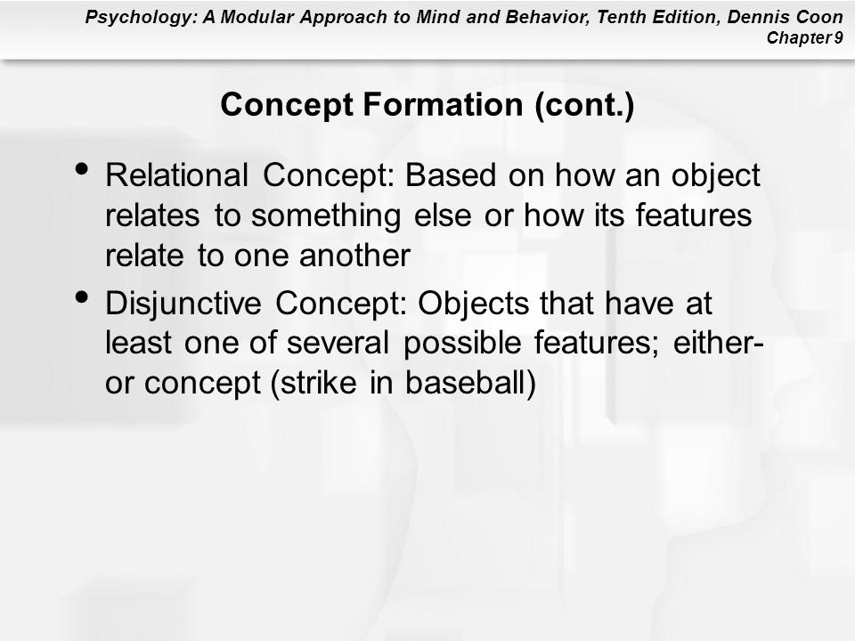 Concept Formation (cont.)