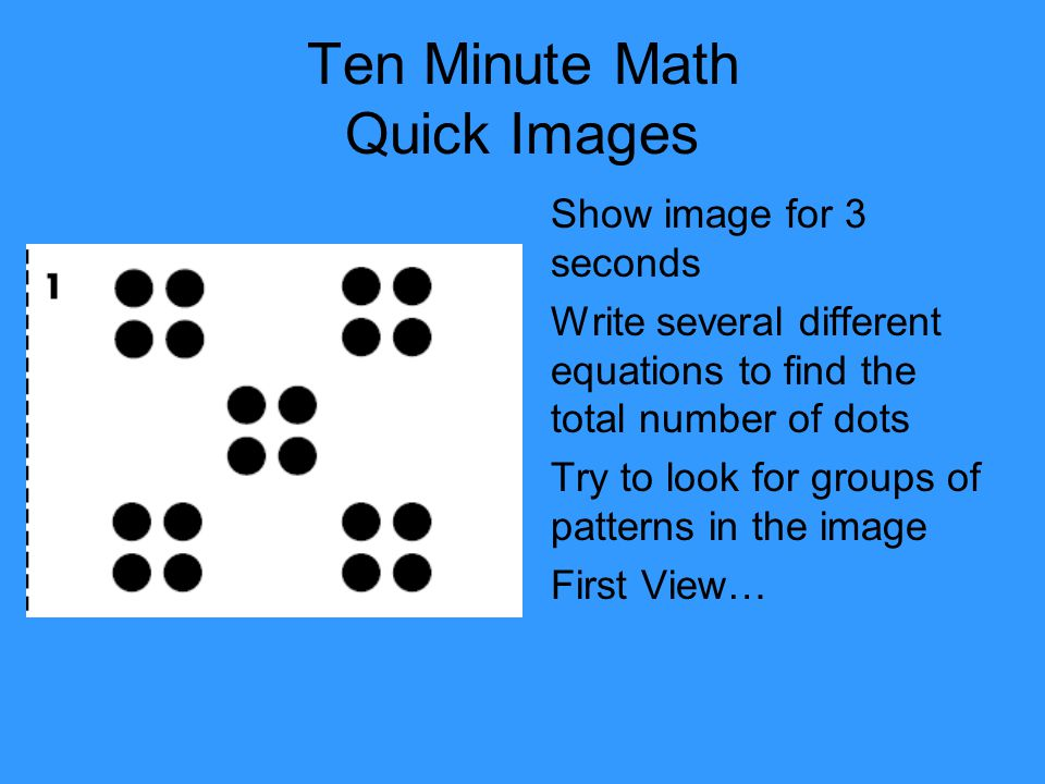 Ten Minute Math Quick Images