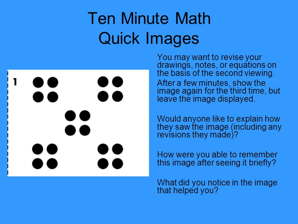 Ten Minute Math Quick Images