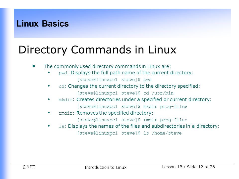 Directory Commands in Linux
