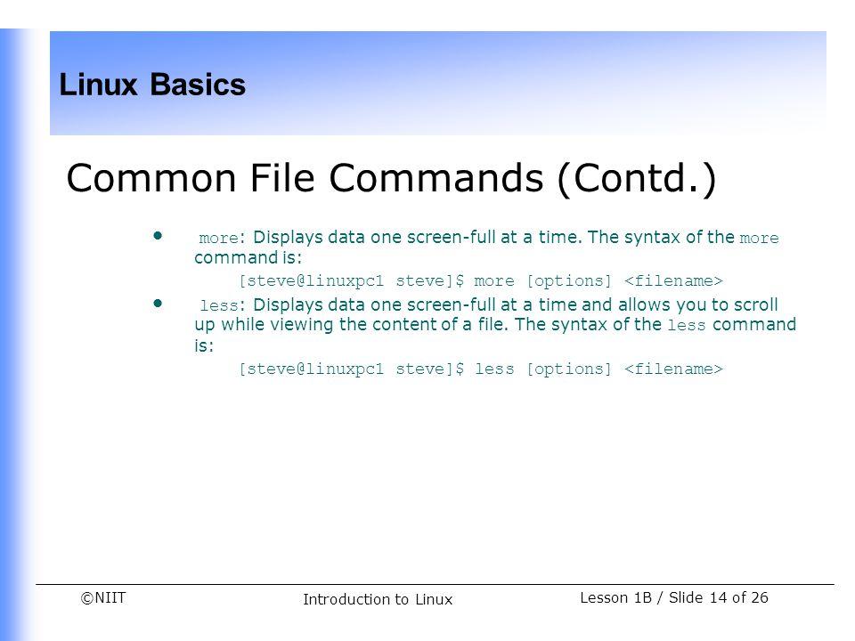 Common File Commands (Contd.)