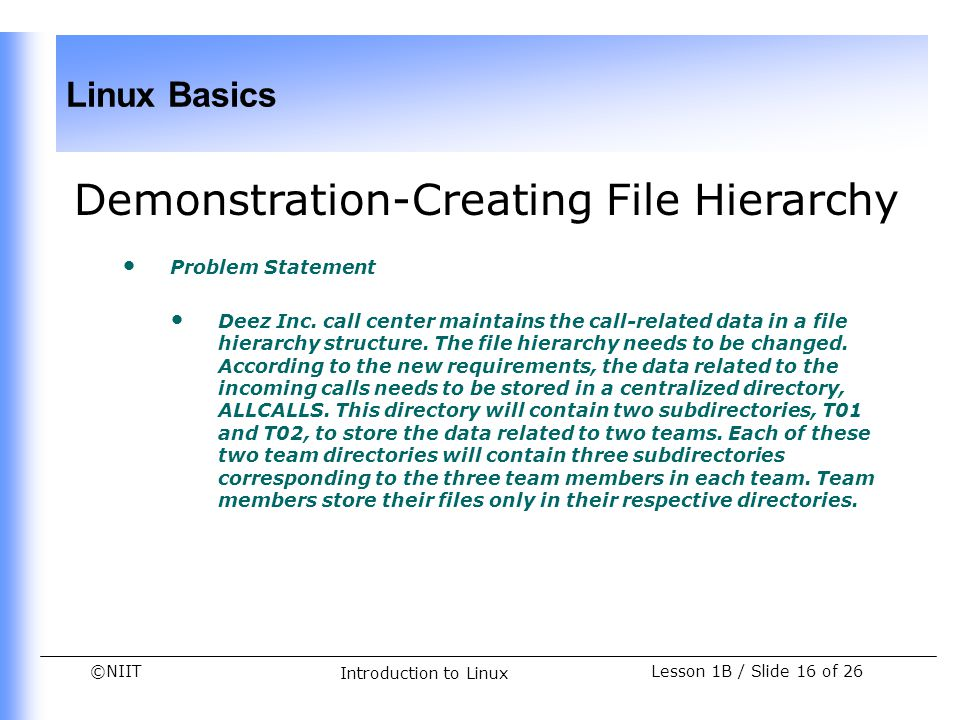 Demonstration-Creating File Hierarchy