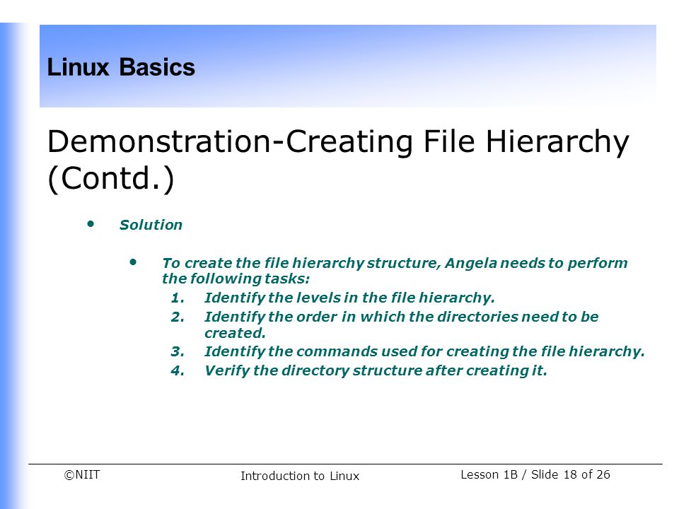 Demonstration-Creating File Hierarchy (Contd.)