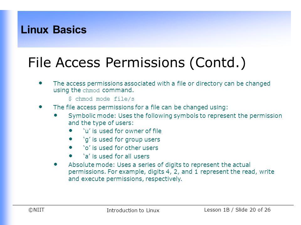 File Access Permissions (Contd.)