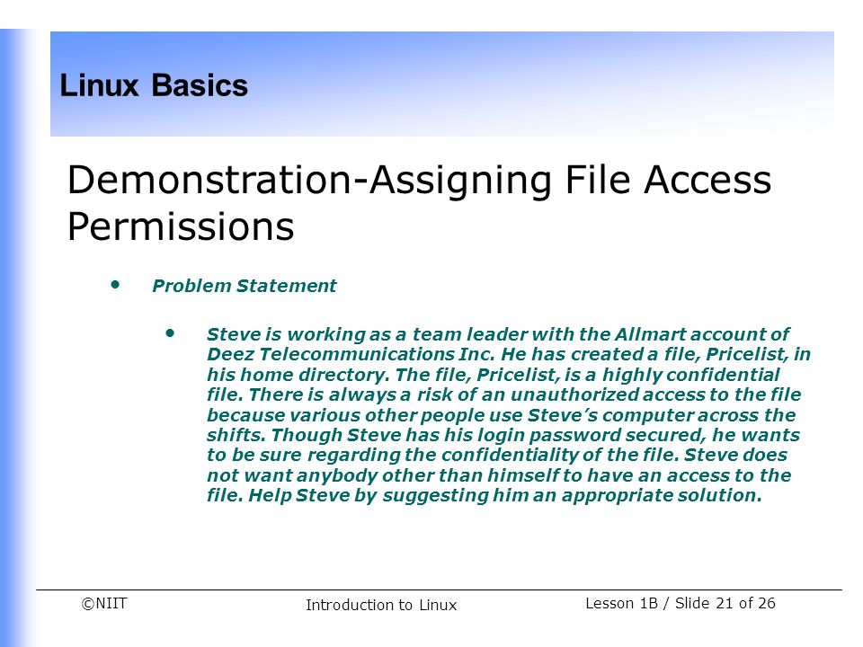 Demonstration-Assigning File Access Permissions