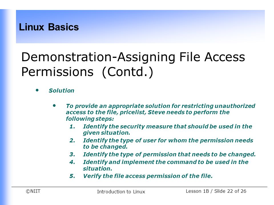 Demonstration-Assigning File Access Permissions (Contd.)