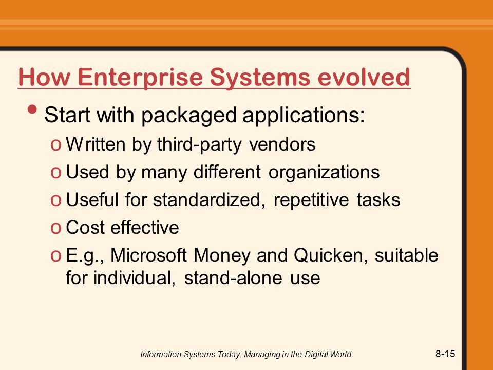 How Enterprise Systems evolved
