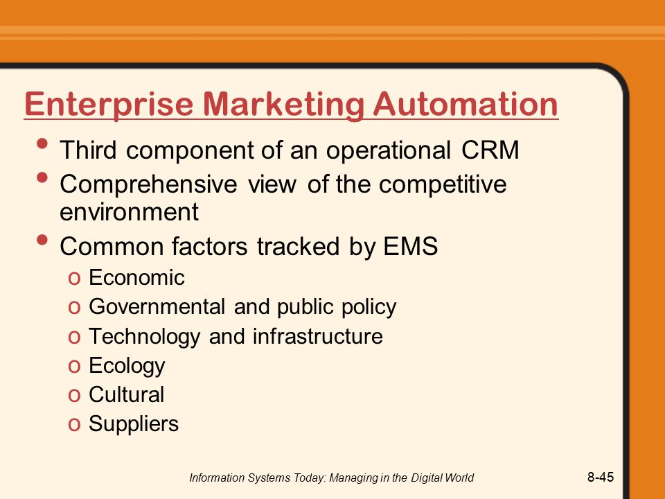 Enterprise Marketing Automation