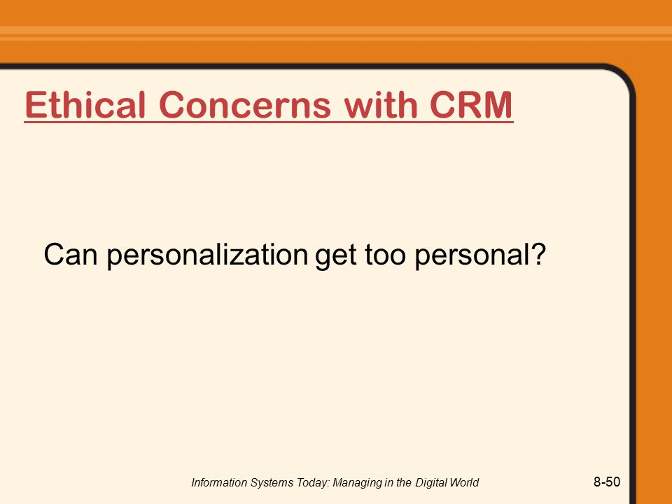 Ethical Concerns with CRM