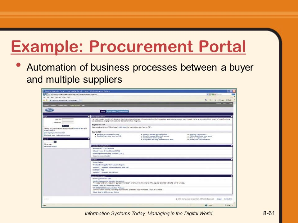 Example: Procurement Portal