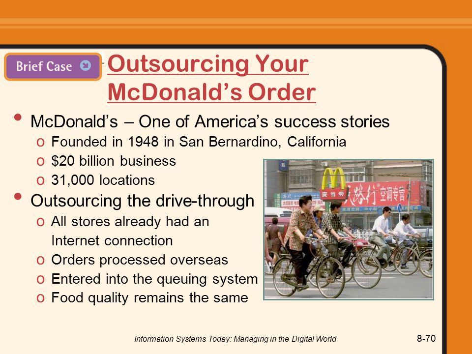 Outsourcing Your McDonald's Order
