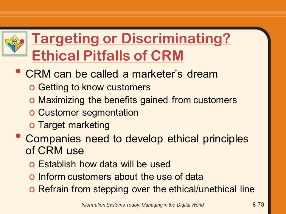 Targeting or Discriminating Ethical Pitfalls of CRM
