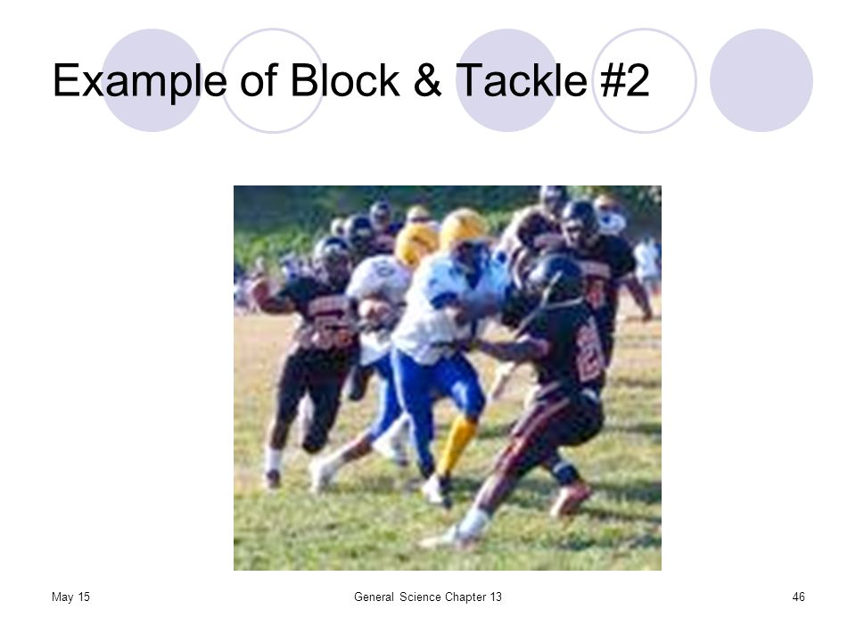 Example of Block & Tackle #2