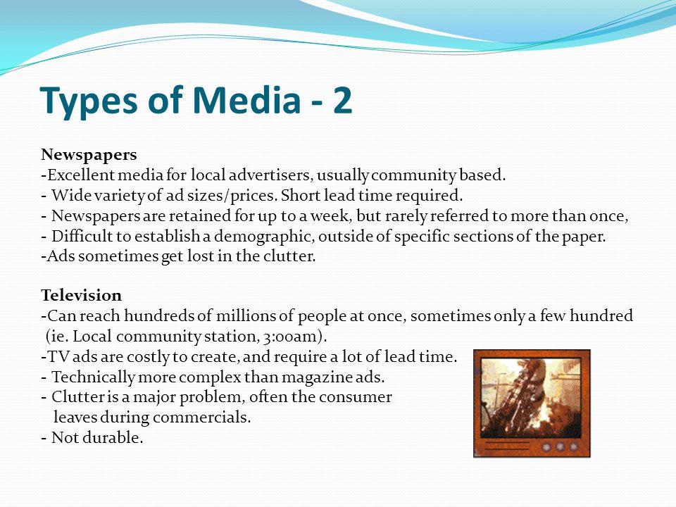 Types of Media - 2 Newspapers