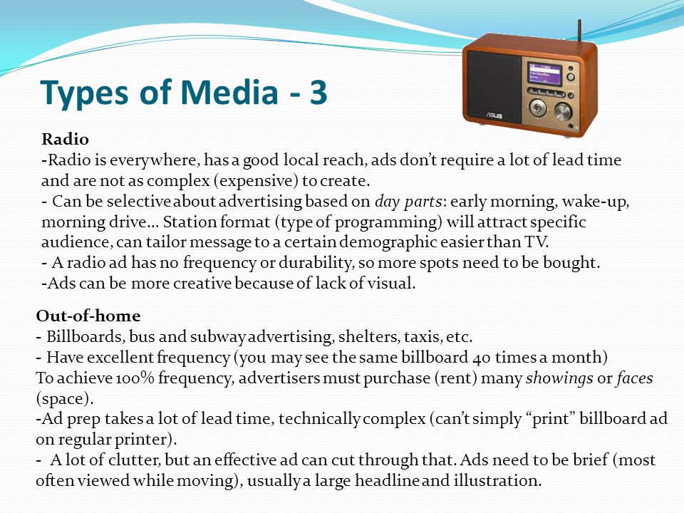 Types of Media - 3 Radio.
