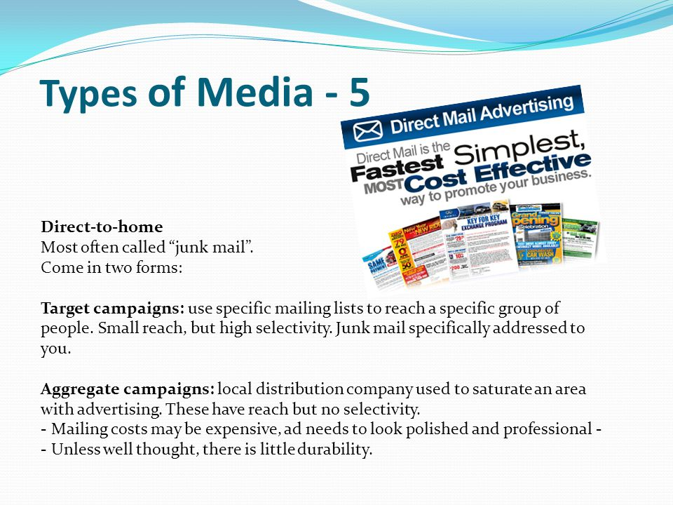 Types of Media - 5 Direct-to-home