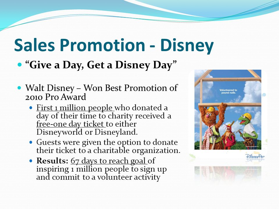 Sales Promotion - Disney