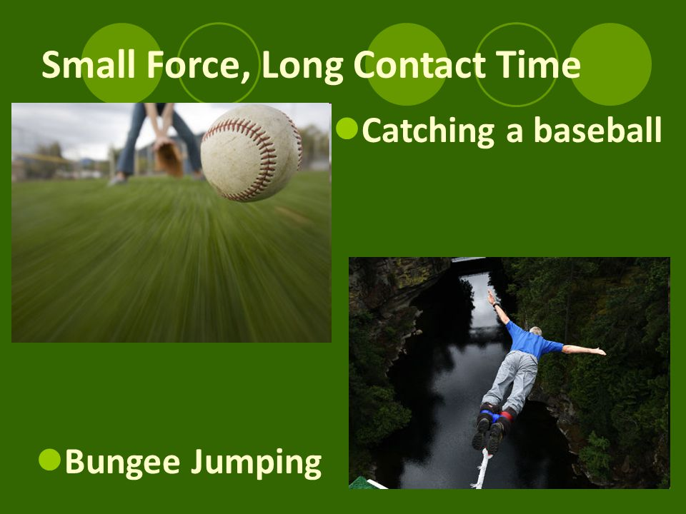 Small Force, Long Contact Time