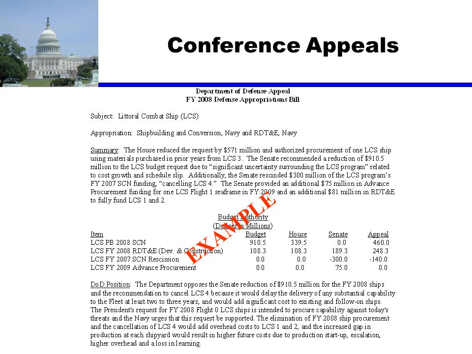 Conference Appeals EXAMPLE