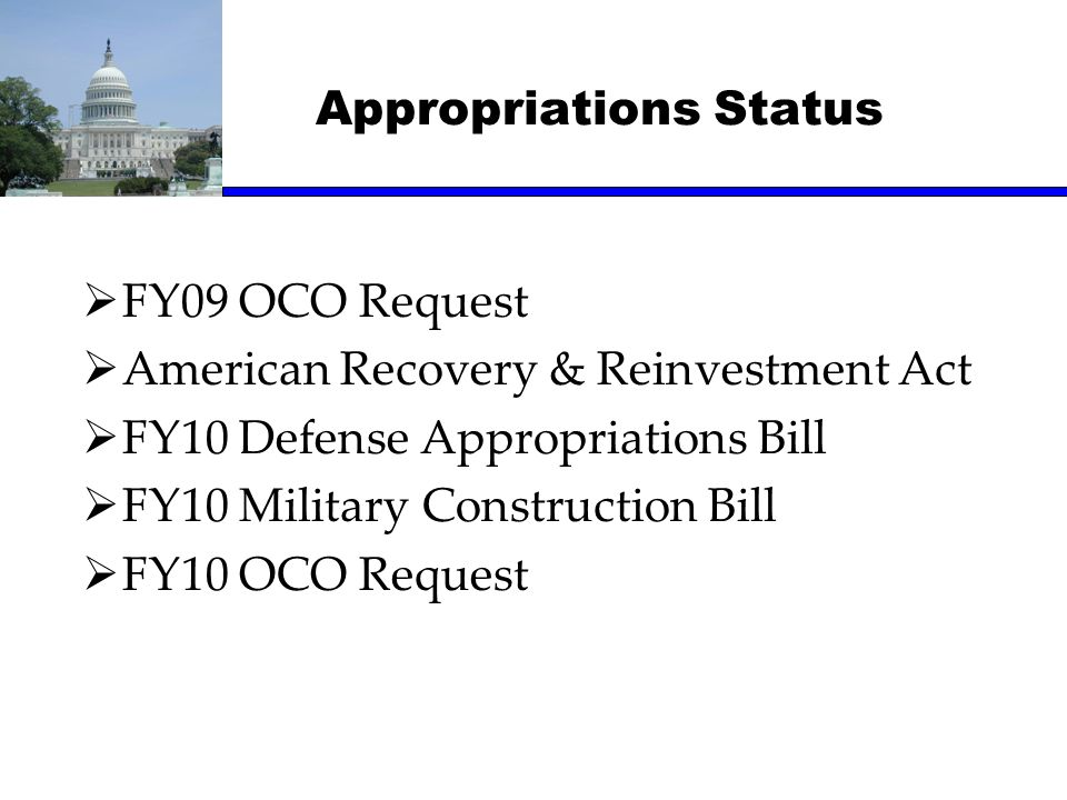 Appropriations Status