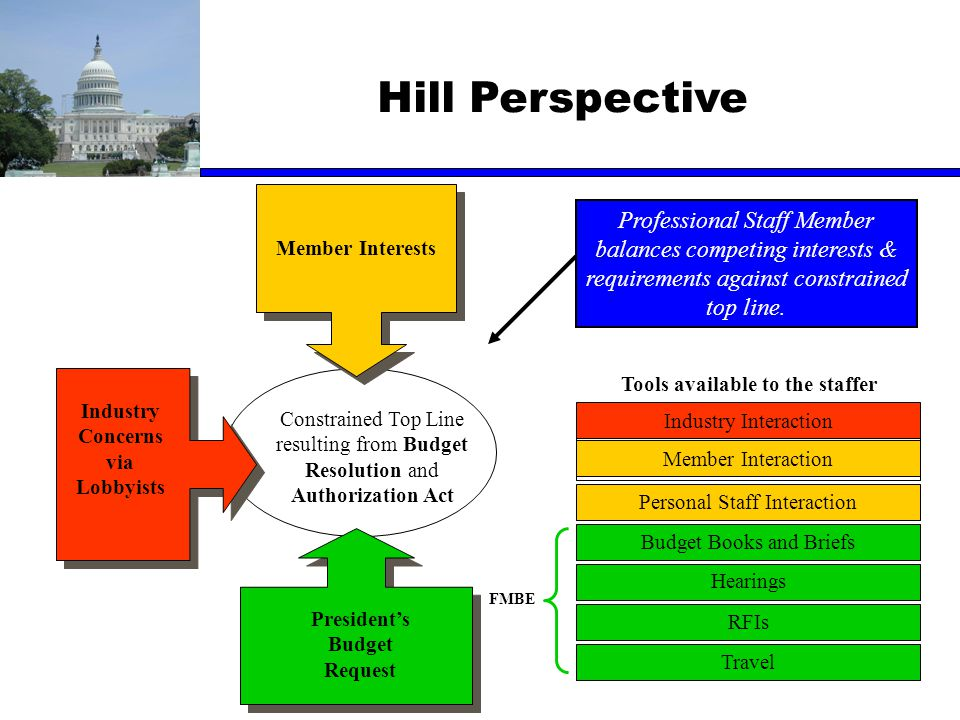 Hill Perspective Professional Staff Member balances competing interests & requirements against constrained top line.