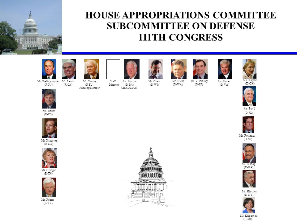 HOUSE APPROPRIATIONS COMMITTEE SUBCOMMITTEE ON DEFENSE