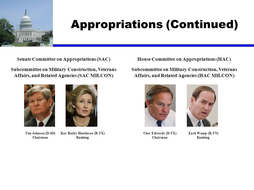 Appropriations (Continued)