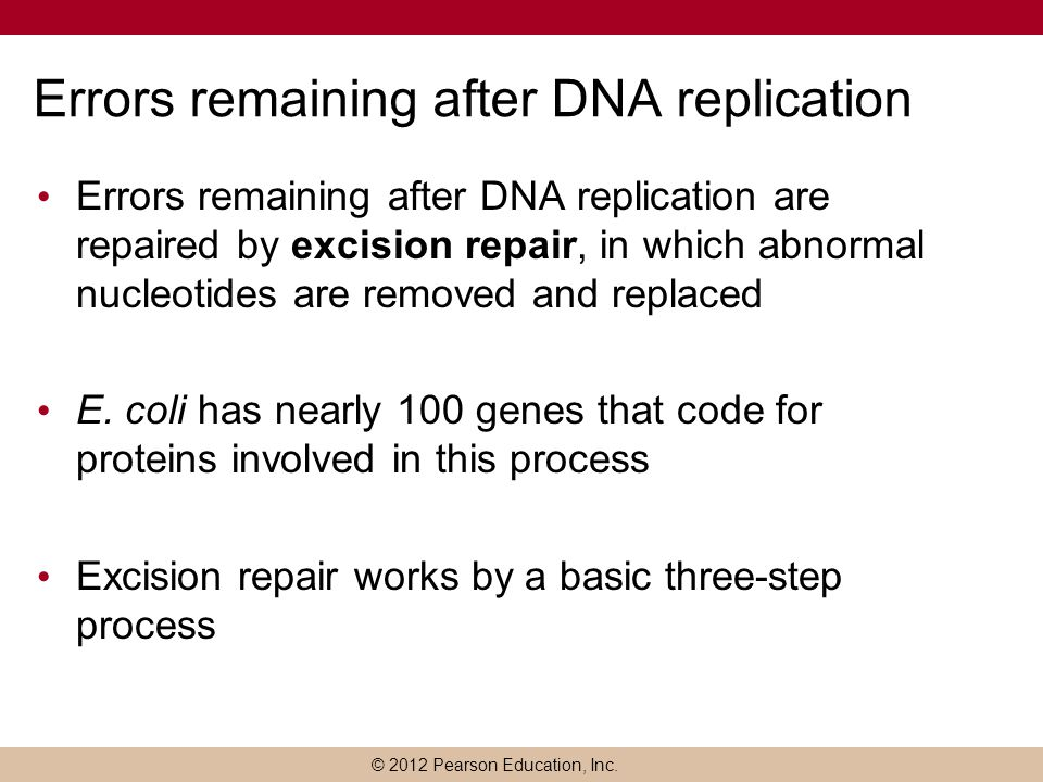 Errors remaining after DNA replication