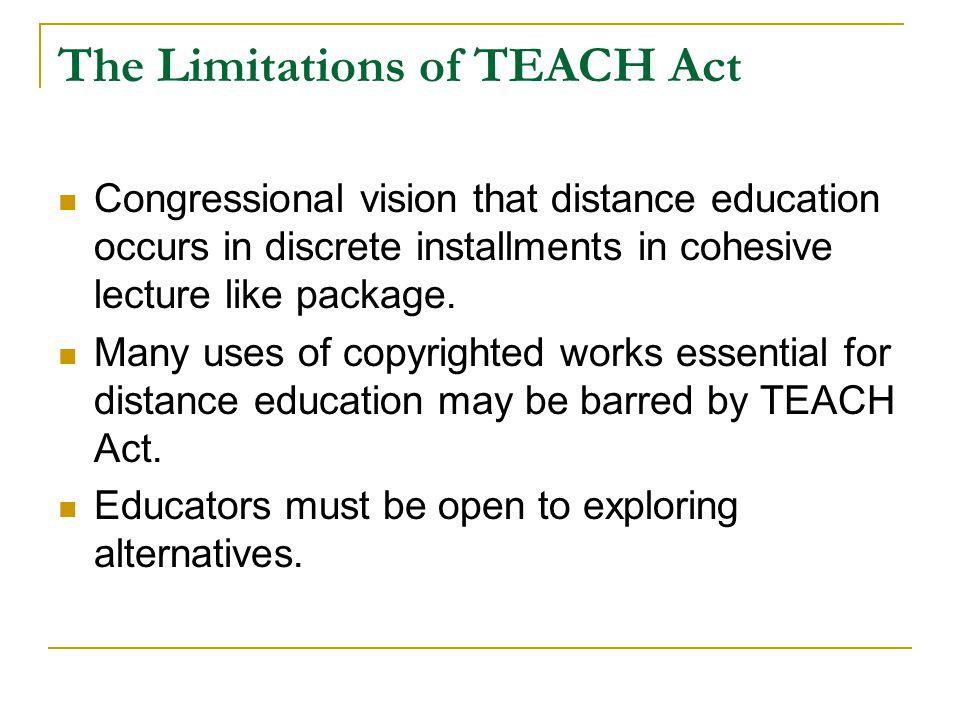 The Limitations of TEACH Act