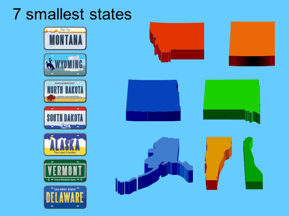 7 smallest states