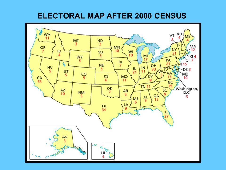 ELECTORAL MAP AFTER 2000 CENSUS