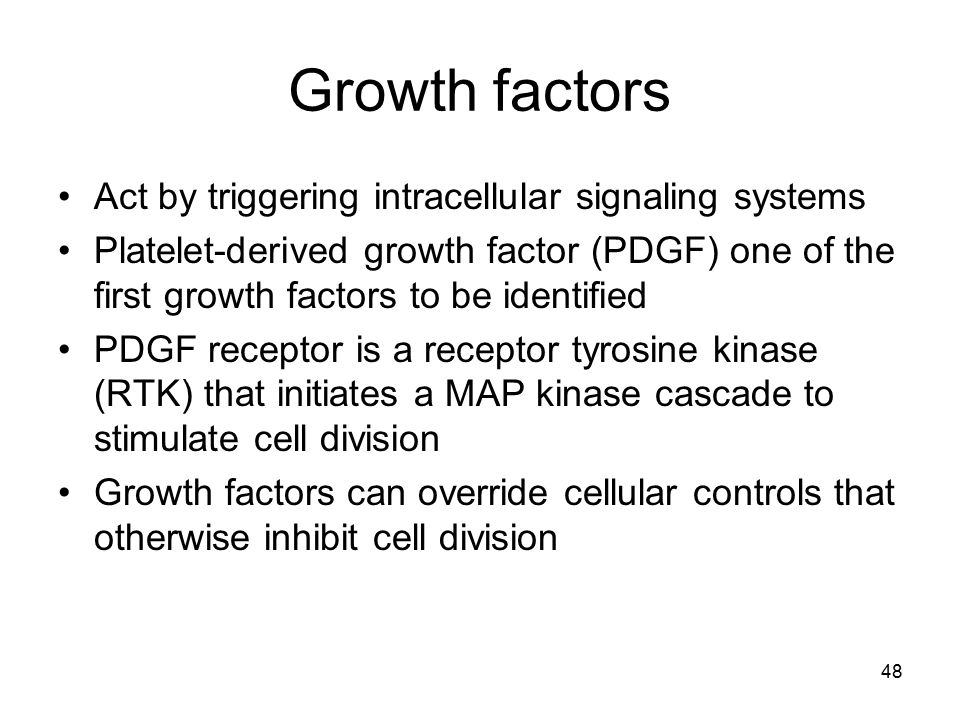 Growth factors Act by triggering intracellular signaling systems