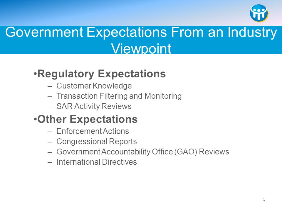 Government Expectations From an Industry Viewpoint