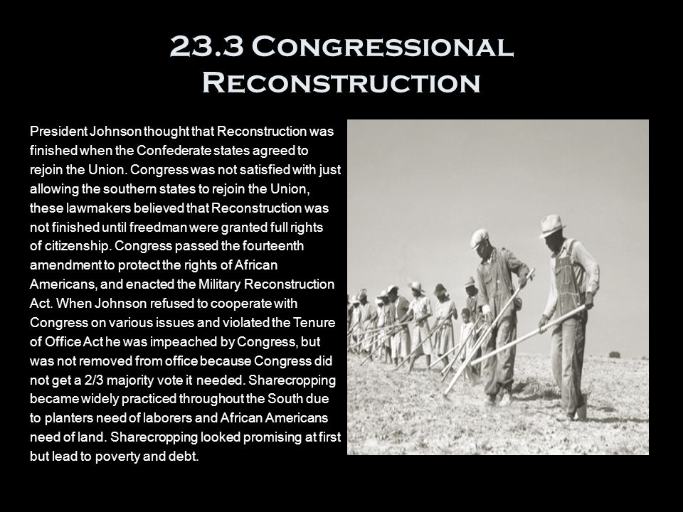 23.3 Congressional Reconstruction
