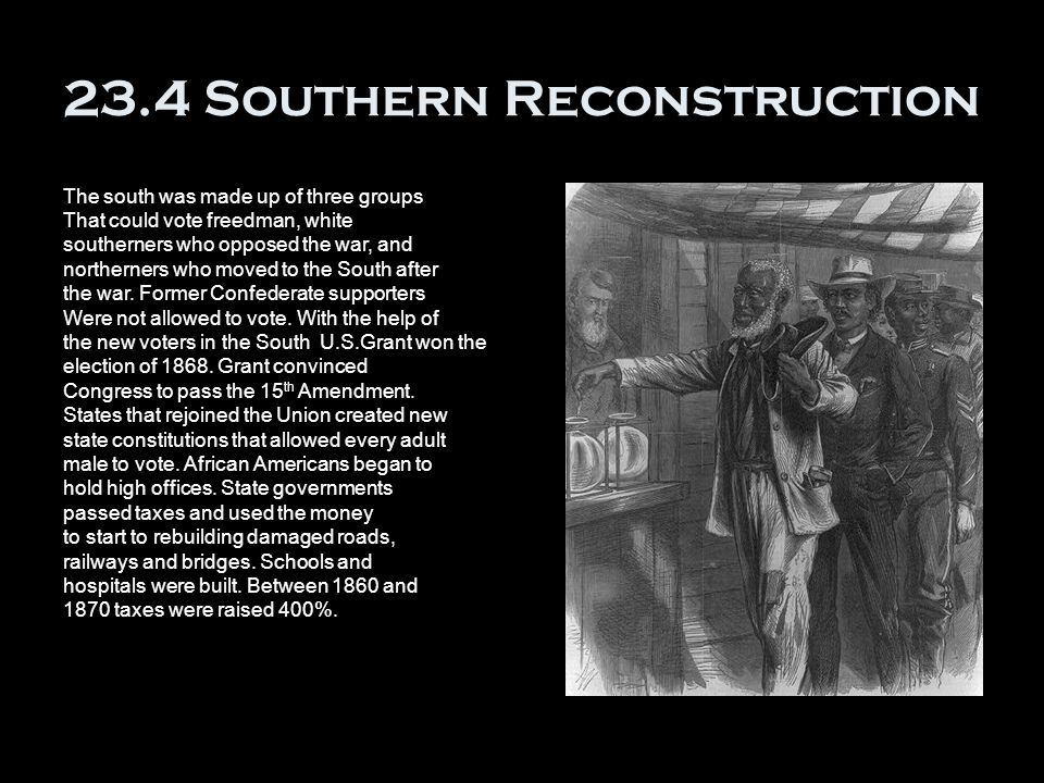 23.4 Southern Reconstruction