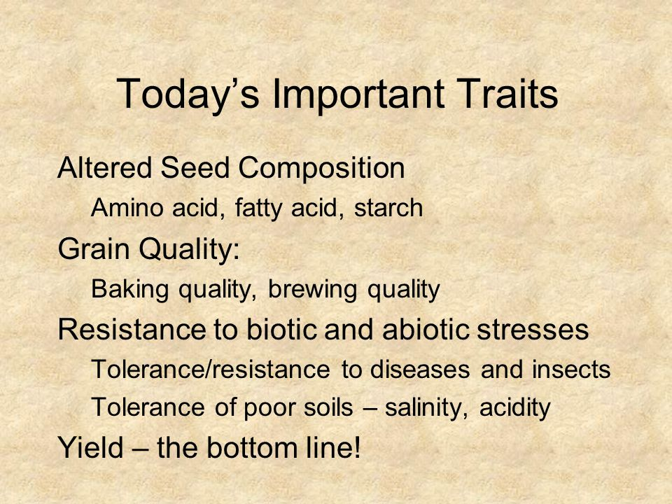 Today's Important Traits