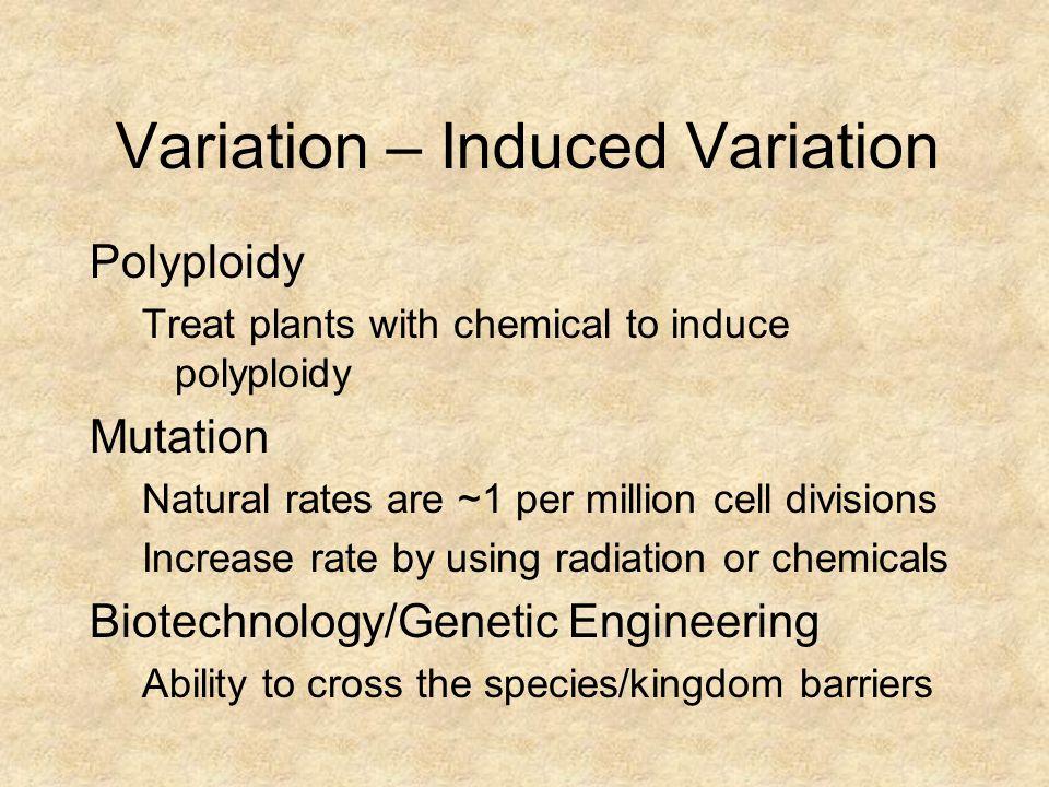 Variation – Induced Variation
