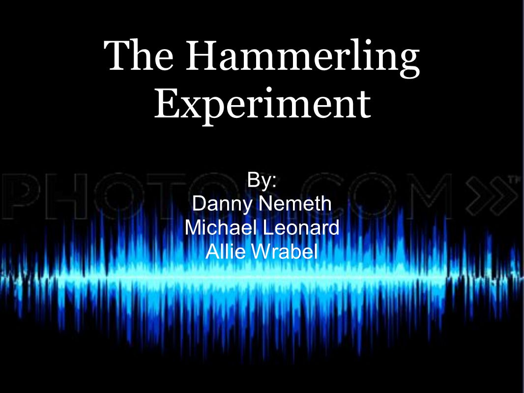 The Hammerling Experiment